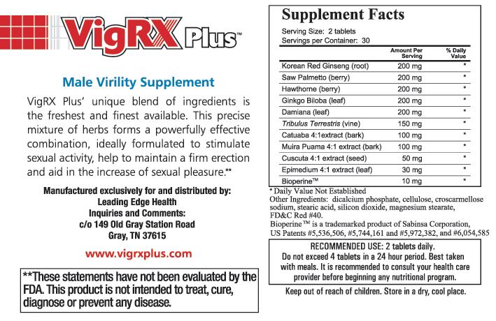 vigrx plus male enhancement pills ingredients
